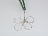 Kleeblatt aus Silberdrahtv